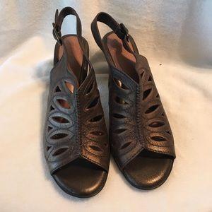 Nurture metallic bronze heels